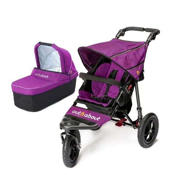 Out n About baby prams Out n About Nipper V4 With Carrycot Purple Punch 396O2AH