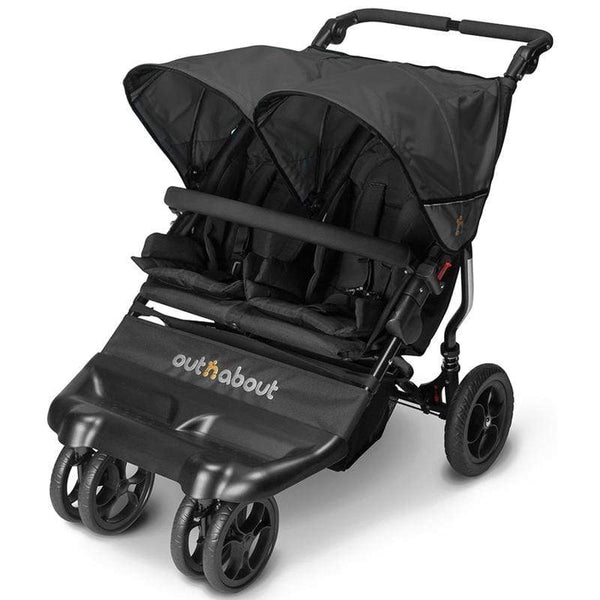 Out n About double buggies Out n About Little Nipper Double Jet Black LN-02JB
