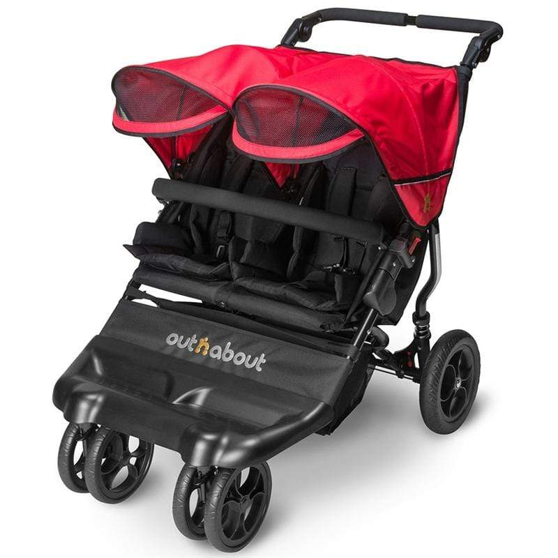 Out n About double buggies Out n About Little Nipper Double Poppy Red LN-02PR