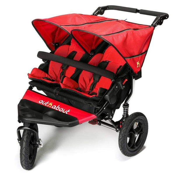 Out n About double buggies Out n About Double Nipper V4 Carnival Red NIP-02CRV4