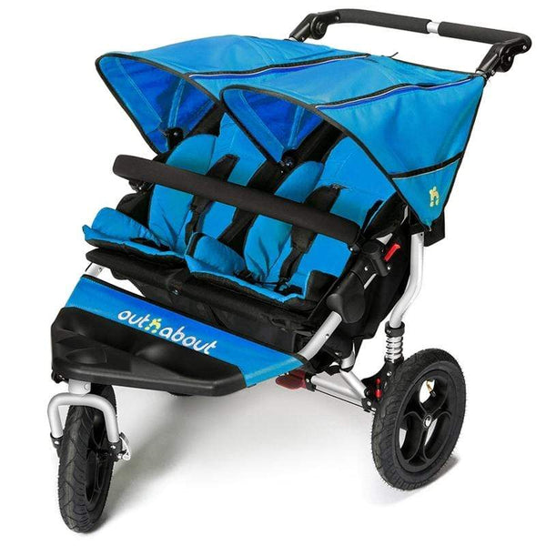 Out n About double buggies Out n About Double Nipper V4 Lagoon Blue NIP-02LBV4
