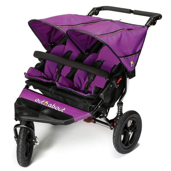 Out n About double buggies Out n About Double Nipper V4 Purple Punch NIP-02PPV4