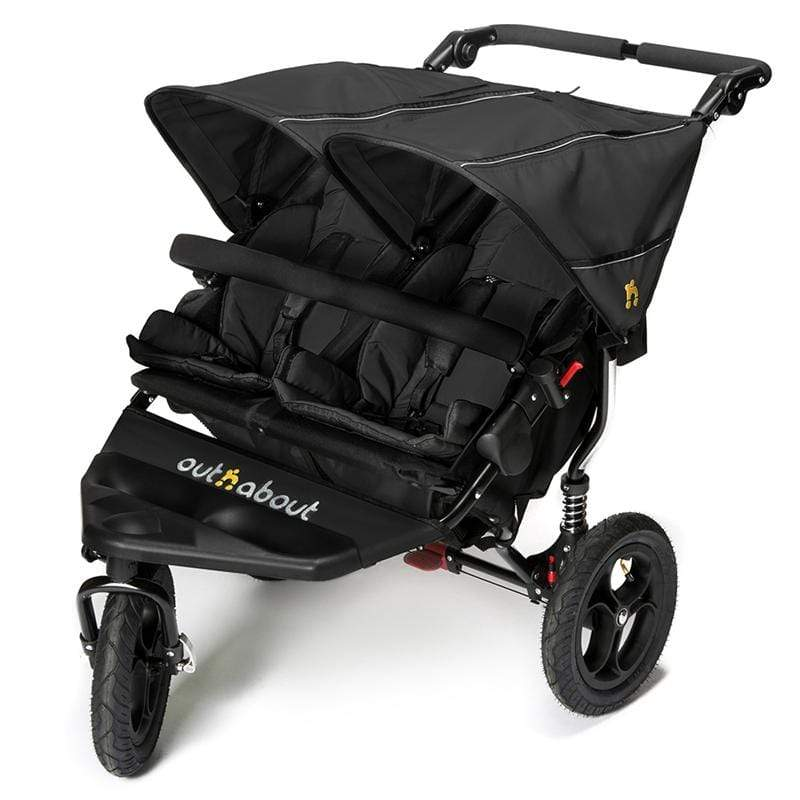 Out n About double buggies Out n About Double Nipper V4 Raven Black NIP-02RBV4