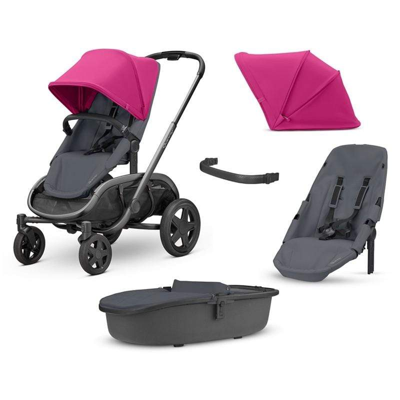 Quinny baby pushchairs Quinny Hubb Newborn/Toddler Bundle Pink on Graphite O9EGA4V