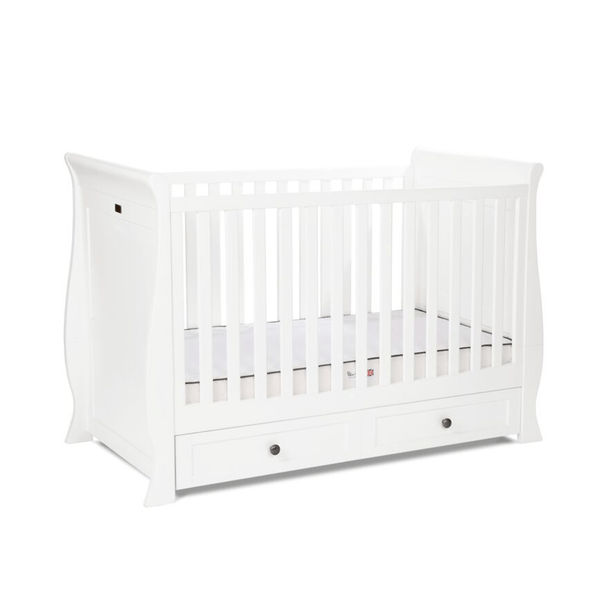 Silver Cross baby cot beds Silver Cross Nostalgia Sleigh Cotbed White