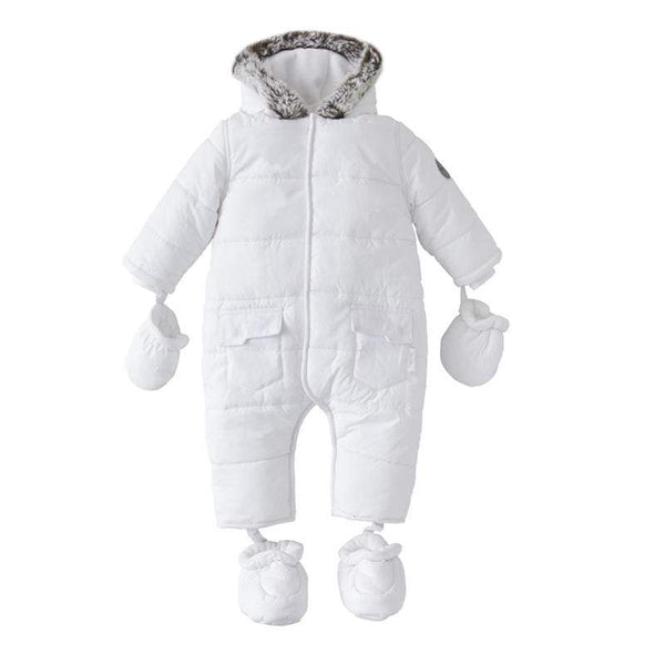 Silver Cross footmuffs Silver Cross Pramsuit 6-9 Months White SX7001.03