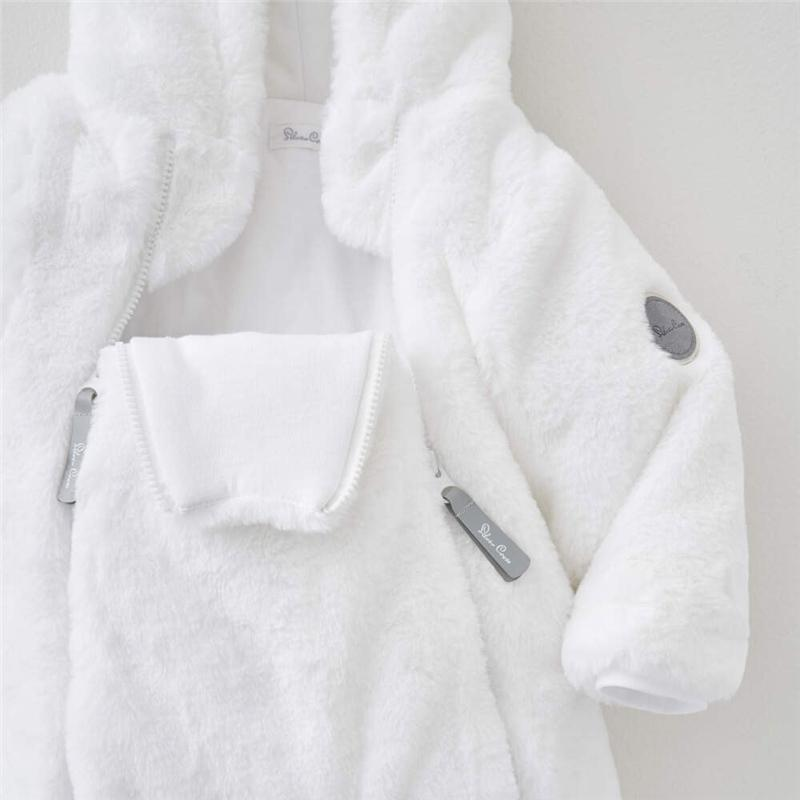 Silver Cross rompers, bodies & playsuits Silver Cross Unisex Faux Fur Pramsuit White 0-3 Months SX7003.01