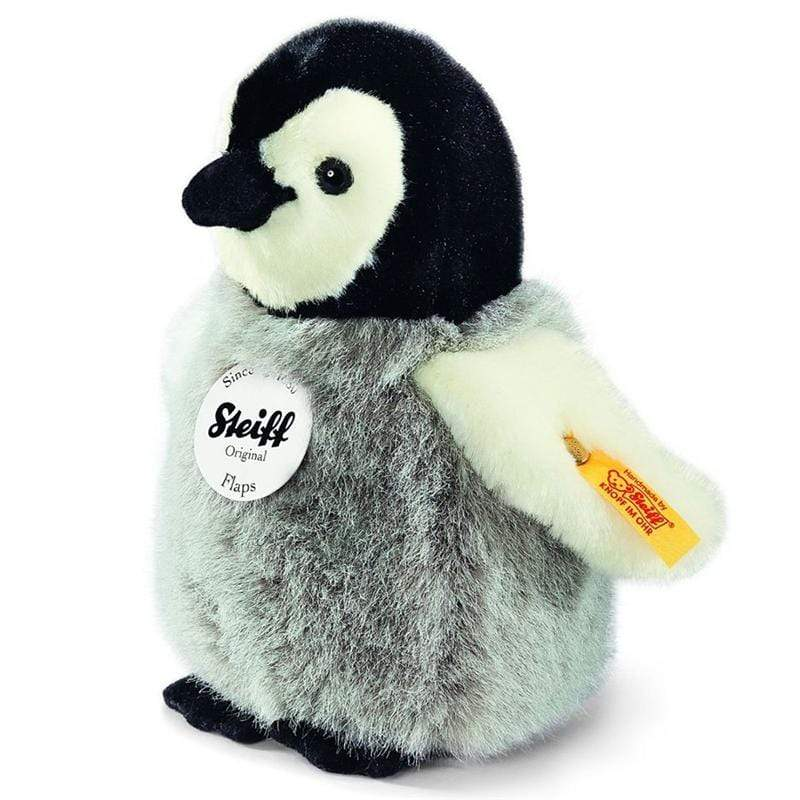 Steiff soft animals Steiff Flaps Penguin 16cm Grey 057144