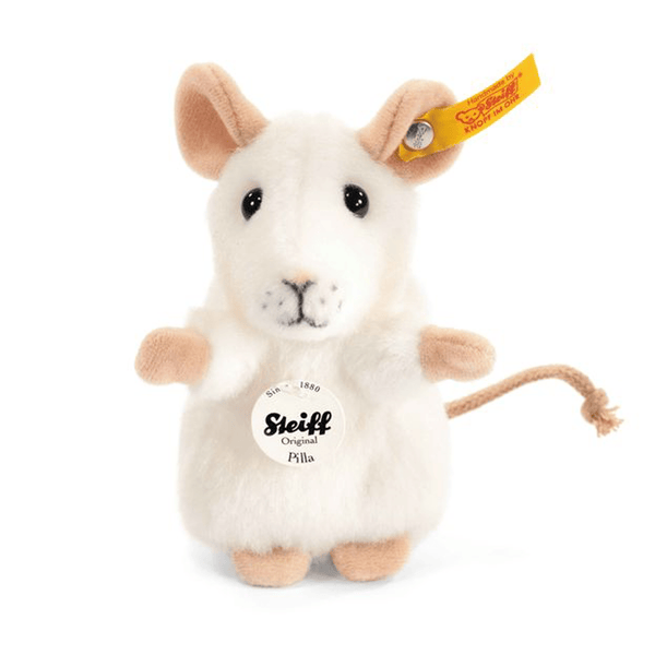 Steiff soft animals Steiff Pilla Mouse White 056215