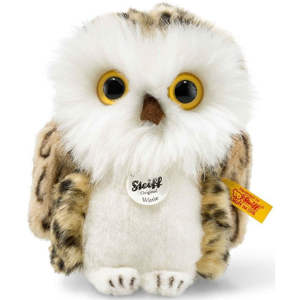 Steiff soft animals Steiff Wittie Owl 12cm Grey Brindled 045608