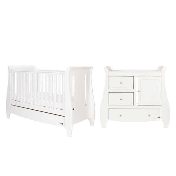 Tutti Bambini cot bed room sets Tutti Bambini Katie 2 Piece Roomset White
