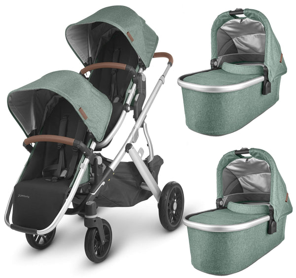 Uppababy twin & tandem prams & pushchairs Uppababy Vista V2 Twin Pushchair Emmett 6244-EMT