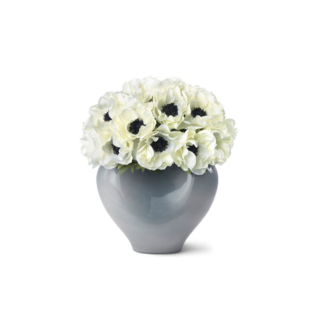 AERIN x Diane James White Anemones and Paola Large Vase