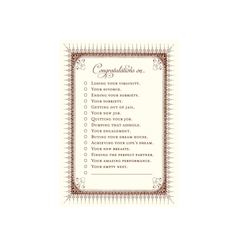 Congratulations List Greeting Card by Alexa Pulitzer