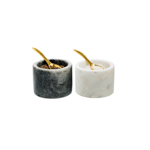 Hudson Grace Marble Salt and Pepper