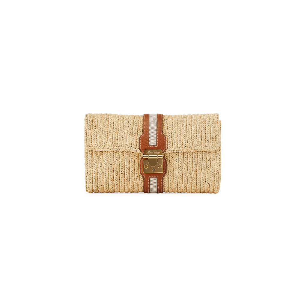 Mark Cross Rafia Clutch