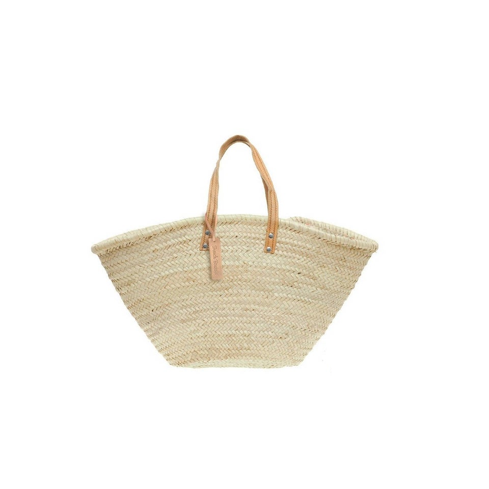 Straw French Market Bag