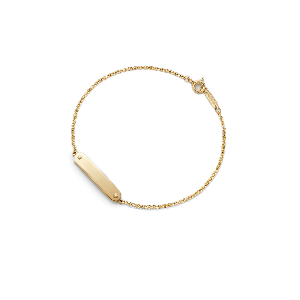 Tiffany Tag Chain bracelet gold