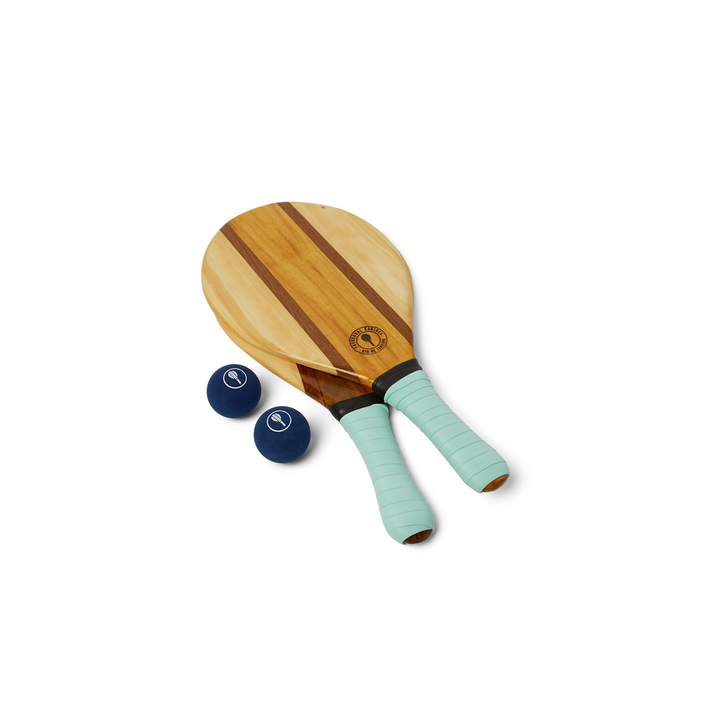 Frescobol Carioca Wooden Beach Bat and Ball Set