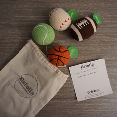 Estella Organic Sports Baby Rattles Gift Set
