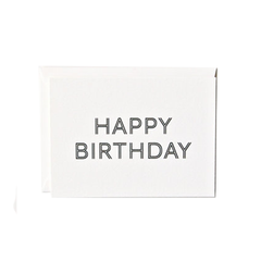 Letterpress 'Happy Birthday' Card from Inhauspress