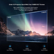 Projector, YABER WIFI Mini Projector - V2 - YABER® Official Site