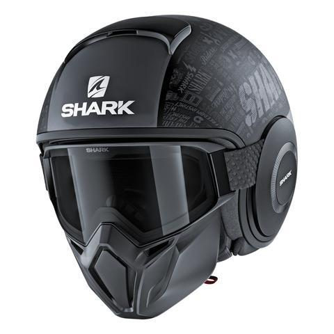CASCO SHARK STREET DRAK TRIBUTE RM MATTE - DARK/GREY