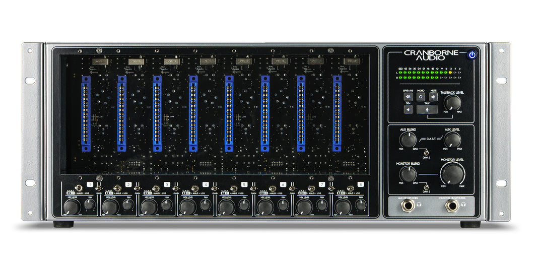 500R8 - USB Audio Interface, Summing Mixer, and 8-Slot 500 Series Rack