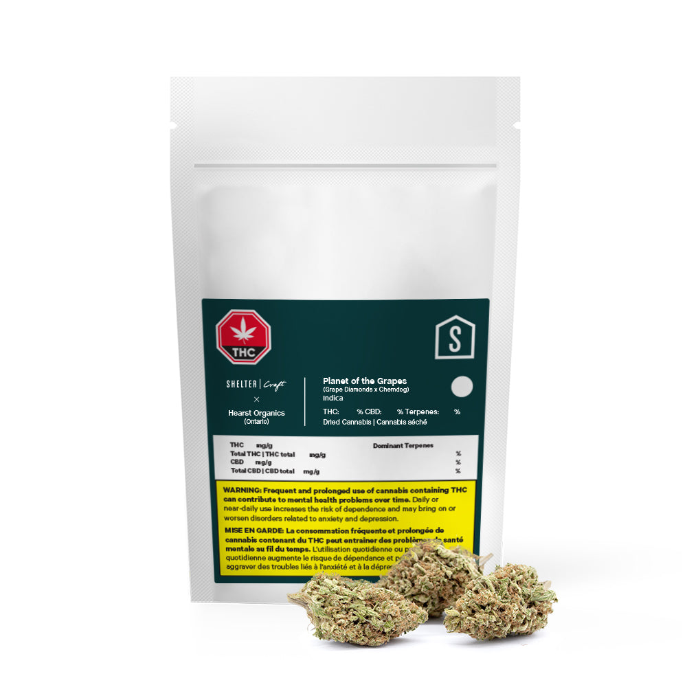 Hearst Organics Planet of the Grapes Dried Cannabis - Lot 21-P31