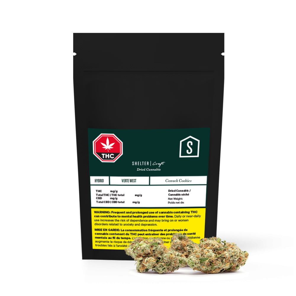 Verte West Canuck Cookies Dried Cannabis - Lot 21-P13