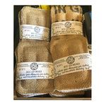 up cycled burlap eco cleaning sponge, set of two