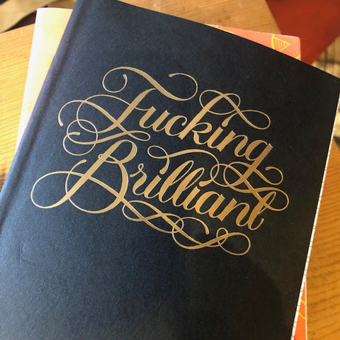 fucking brilliant journal notebook with foil stamp