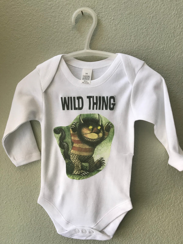 Baby Wild Thing Bodysuit, TShirt, Baby Boy, Baby Girl - Cyndy Love Designs