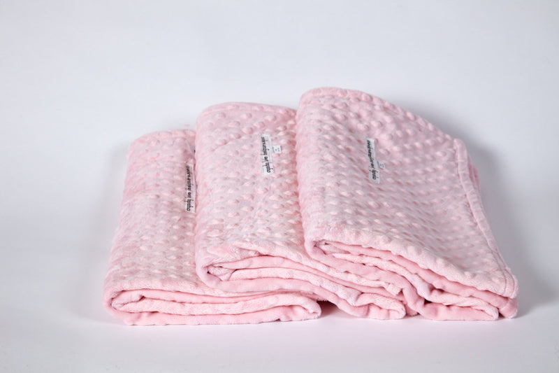 Baby Girl Blanket Pink Minky swaddle - Cyndy Love Designs