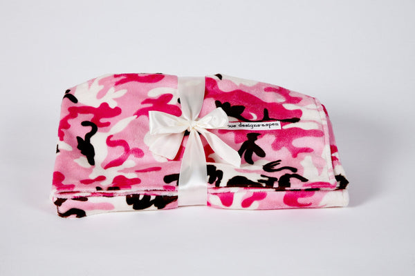 Baby Blanket Pink Camouflage - Cyndy Love Designs