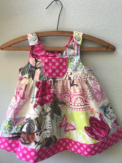 "Little Girl Pink ""Magnifico"" Bird Mural Summer Beach Dress - Cyndy Love Designs"