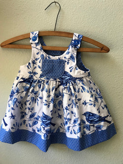 "Little Girls ""Gretl's"" Blue Bird Summer Beach Dress - Cyndy Love Designs"