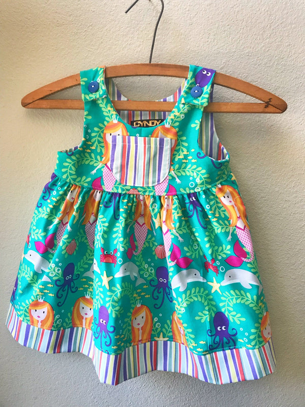 Little Girls Dress, Summer Girls Dress - Cyndy Love Designs