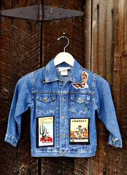 Denim Jean Jacket with Rodeo and Cowboy Appliques - Cyndy Love Designs