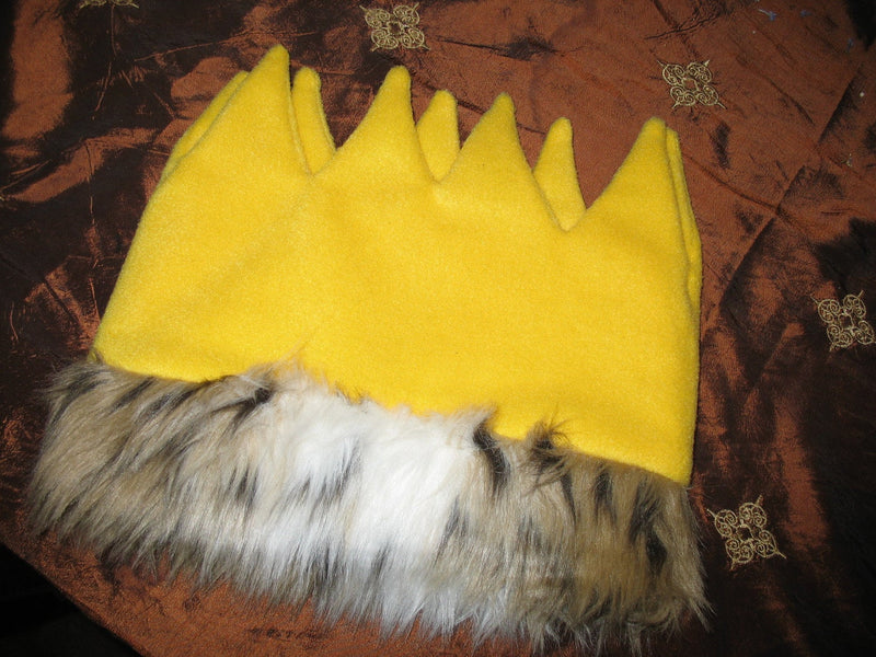 Wild Thing Crown with Fur Trim - Photo Prop - Cyndy Love Designs