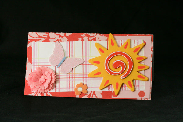 Checkbook Cover Vinyl Unique Handmade Sunshine Design - Cyndy Love Designs