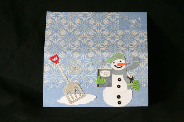 Checkbook Cover Vinyl Unique Handmade Snowman Design - Cyndy Love Designs
