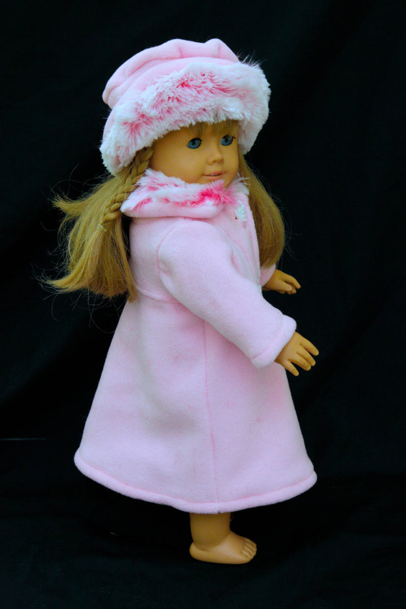 "Girl Doll American Designer Clothes Coat and Hat Set for 18"" Doll Fits - Cyndy Love Designs"