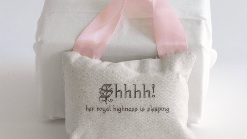 Baby Girl Pillow with Crown Her Royal Highness is Sleeping Baby Gift - Cyndy Love Designs