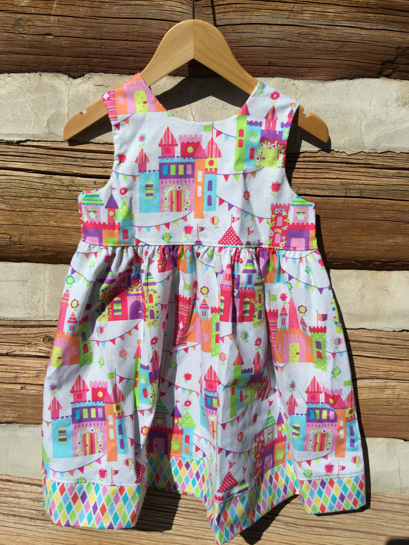 Little Girls Pink Summer Beach Dress - Cyndy Love Designs