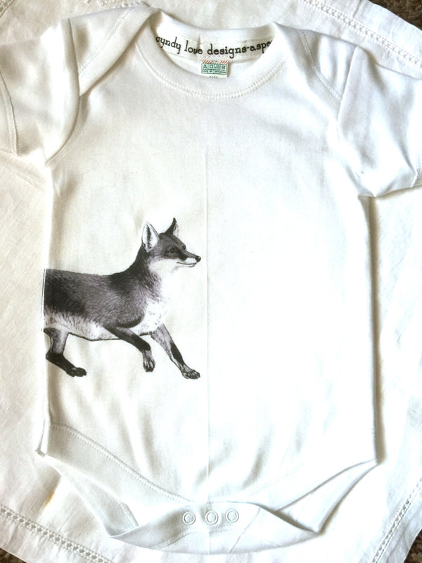 Fox Baby Boy, Baby Girl, Bodysuit, Baby Gift - Cyndy Love Designs