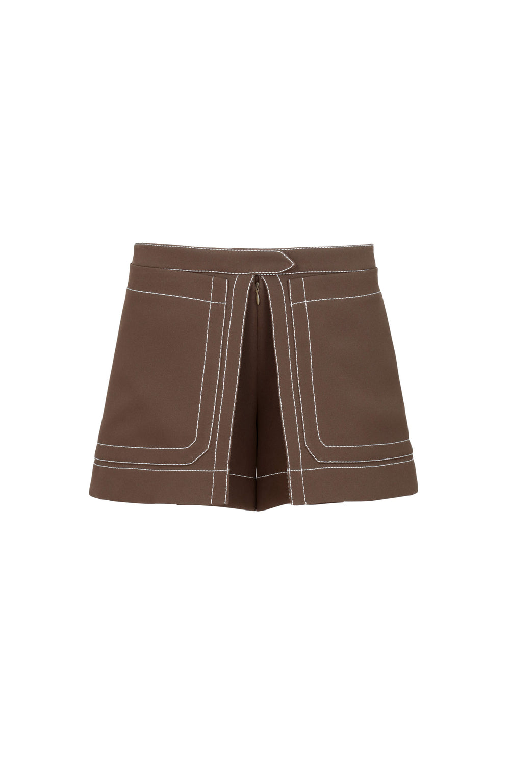 Shorts With Contrasting Stitching