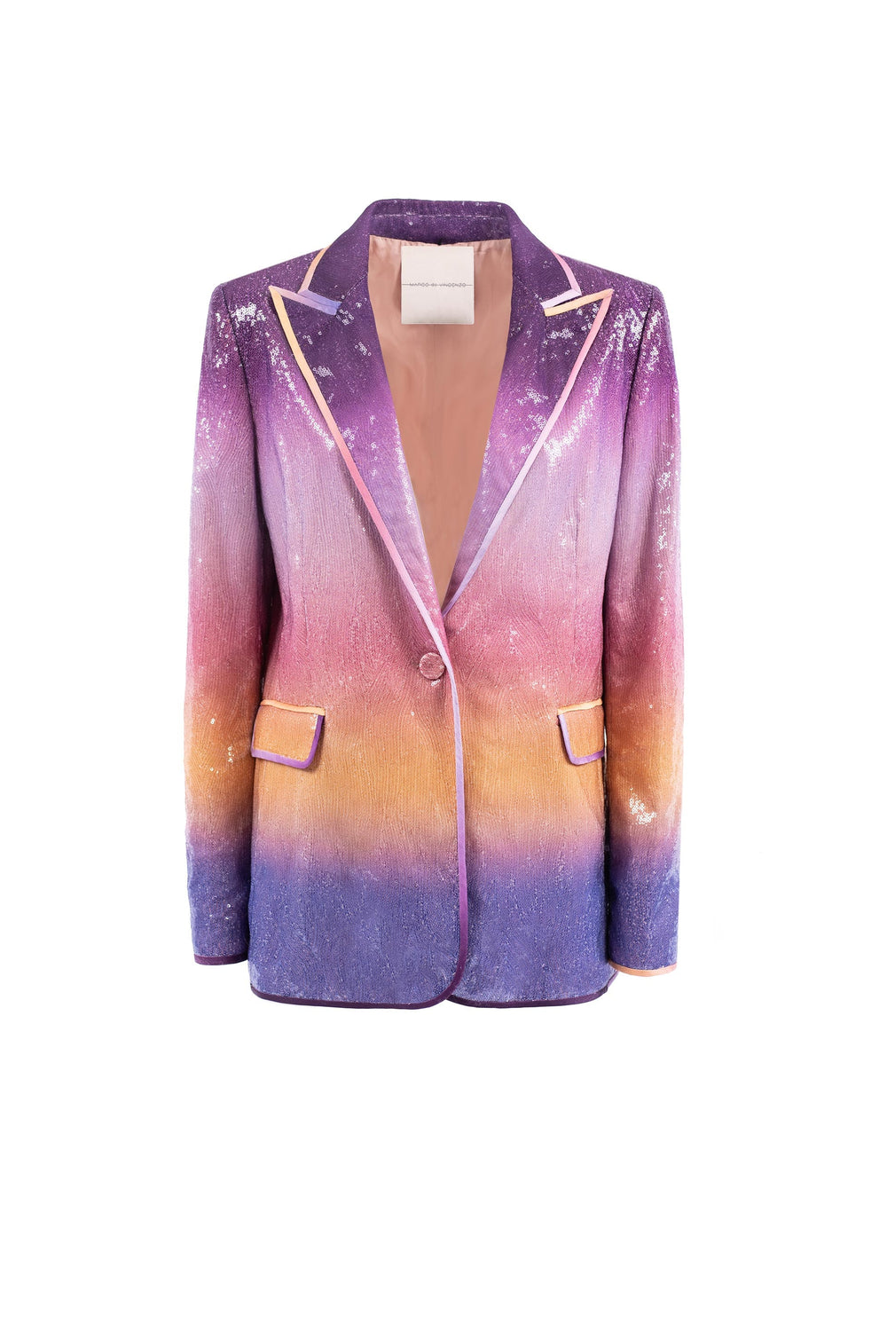 Single-breasted sequin jacket