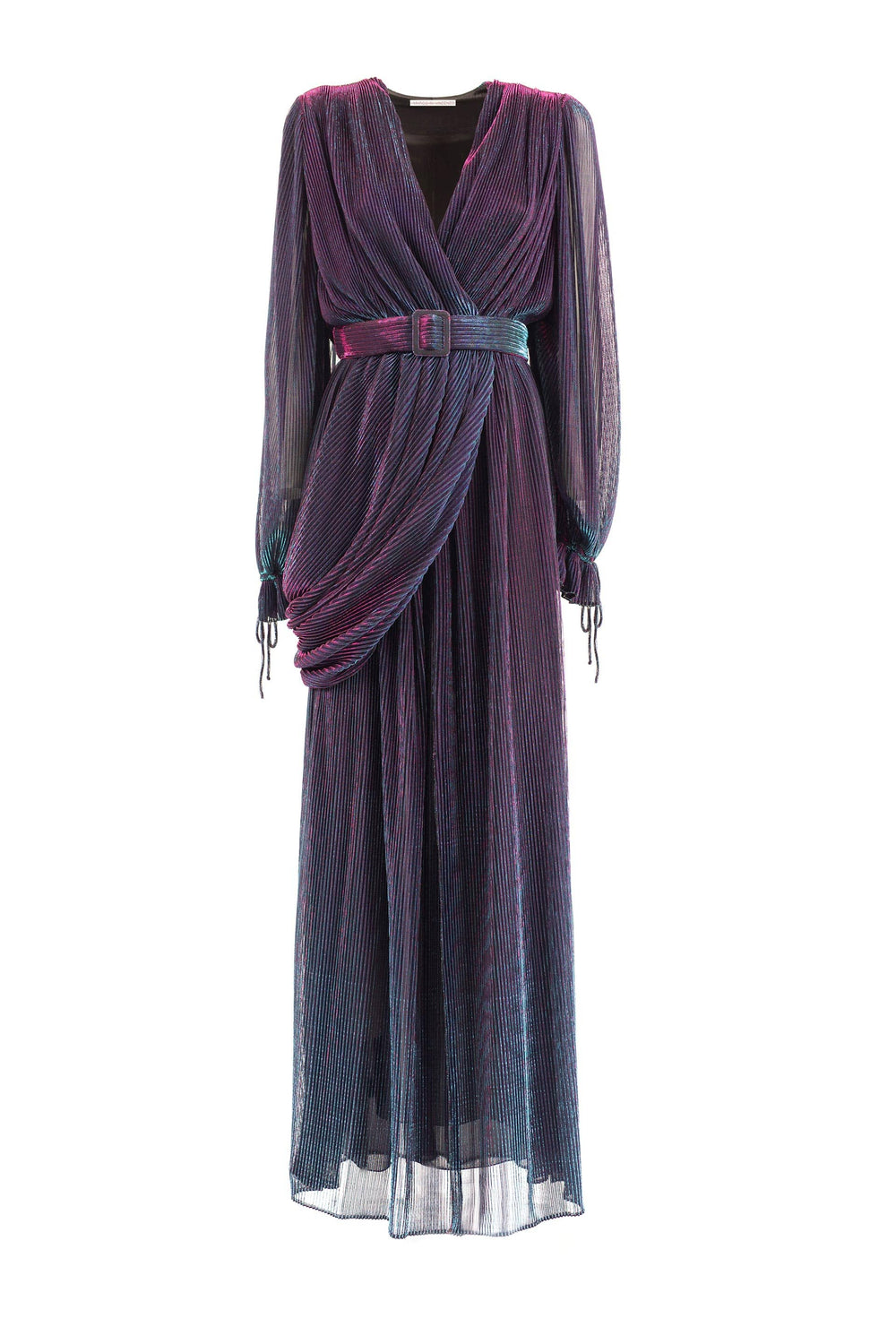 Long Lurex jersey dress