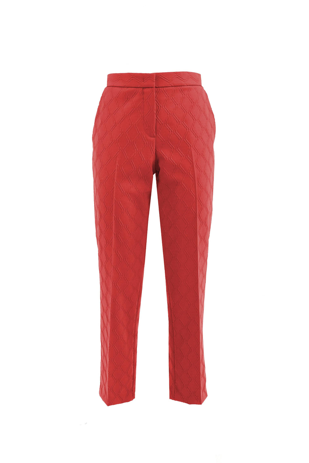 Slim-fit trousers with crease